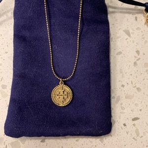 Tory Burch necklace with pouch